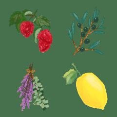 絵本風な絵文字『植物』