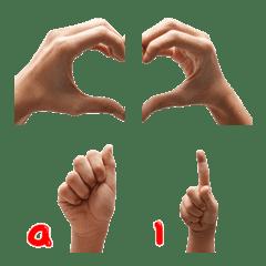Hand sing alphabet Emoji