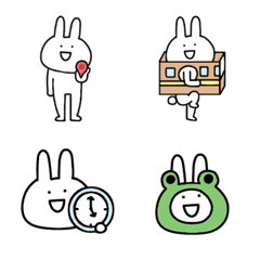 シュールでゆるすぎるウサギの【連絡】