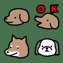 さまざまな犬の顔