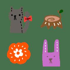 大人かわいいシンプル絵文字12北欧風と動物
