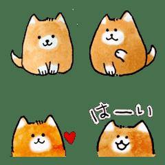 かわいい柴犬の絵文字