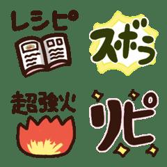 ズボラ女子の料理絵文字