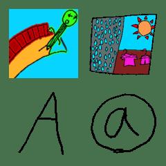 アルファベットの絵文字