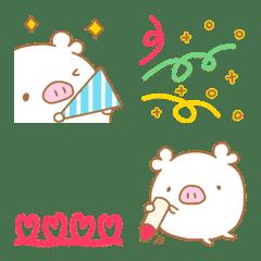 しろぶぅの絵文字8(つながる絵文字)