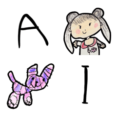4歳児の書いた英字