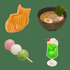 絵本風な絵文字『食べ物』