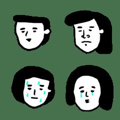 たくさんの顔 使える白顔3