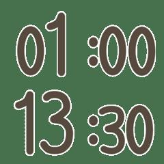 シンプルデジタル時計