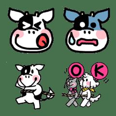 牛の愉快な表情