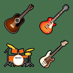 ギターがいっぱい楽器とバンドの絵文字