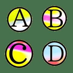 グラデーション アルファベット