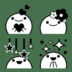 大人可愛い★モノクロ絵文字.1