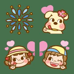 ペコちゃんの絵文字 第4弾 楽しい夏休み♪
