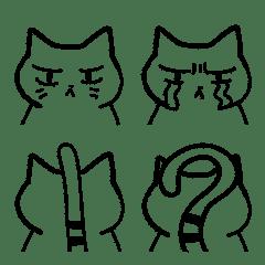 無愛想なネコの絵文字