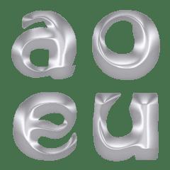 プラチナゴールド (A-Z) 絵文字