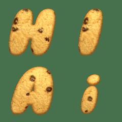 English alphabet cookie