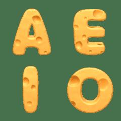 English alphabet cheese pattern