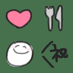 日常シンプル絵文字1