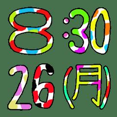 カラフルな便利日付&時間