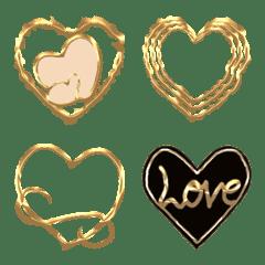 ゴールドハートデコレーションコレクション