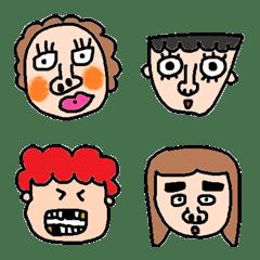 many Ugly face emoji