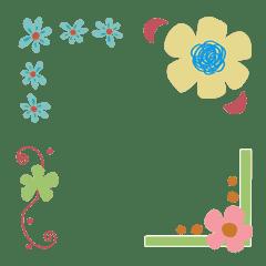 お花カッコ 絵文字