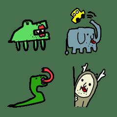世界の動物シリーズの絵文字