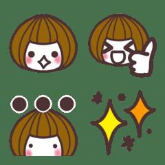 マッシュルーム女子の絵文字
