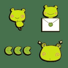 カエルのラッキーの絵文字。