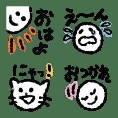 シンプルで使いやすい表情絵文字♡