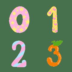 Cutie emoji : kawaii number pastel