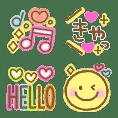 カラフルかわいい☆女子絵文字