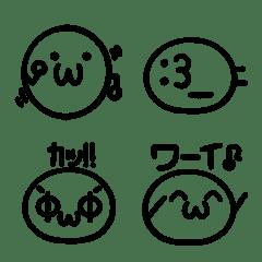 絵文字の丸い顔文字2