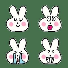 many rabbit face emoji