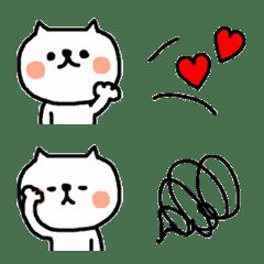 猫ちゃん+ミニ絵文字