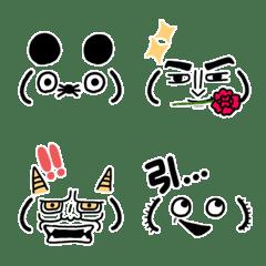 シュールでかわいい顔芸顔文字(3)