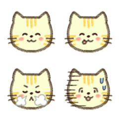 手書きのキュートでかわいい三毛猫の子猫