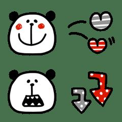 パンダのセットで使いやすい絵文字シンプル