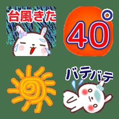 うさぎの暑い夏2■気候■絵文字