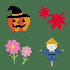 秋の季節の絵文字