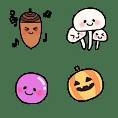 秋のかわいい絵文字