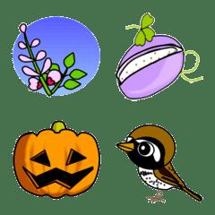 日本の秋の絵文字