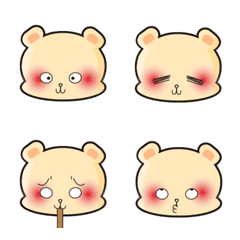 Lazy mouse expression stickers