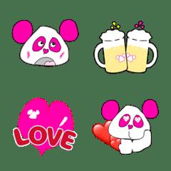 ピンクのお結びパンダ