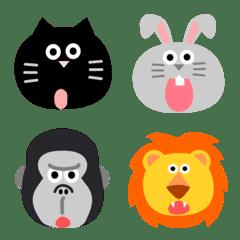動物がいっぱいワンポイント絵文字