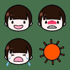 ぱっつん前髪さんの絵文字