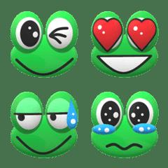 目の大きいカエルのステッカー