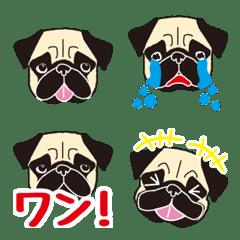 パグ犬 シンプル 絵文字