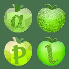 甘いリンゴ  (a-z) 絵文字  かわいい